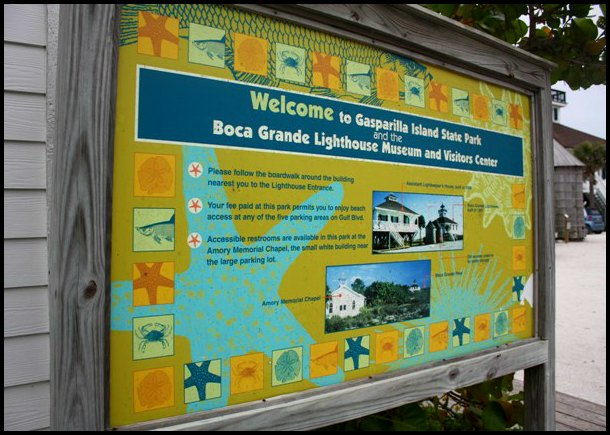 BocaGrande Lighthouse entrance, outdoors, Boca Grande, Gasparilla Island, Charlotte Harbor, SW Florida, FL