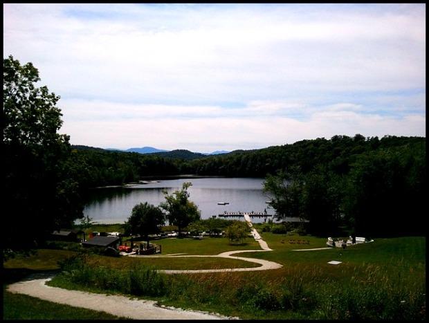 Balnea Spa, Eastern Townships, Cantons de l'Est, Bromont, Lac Gale, Quebec, nature