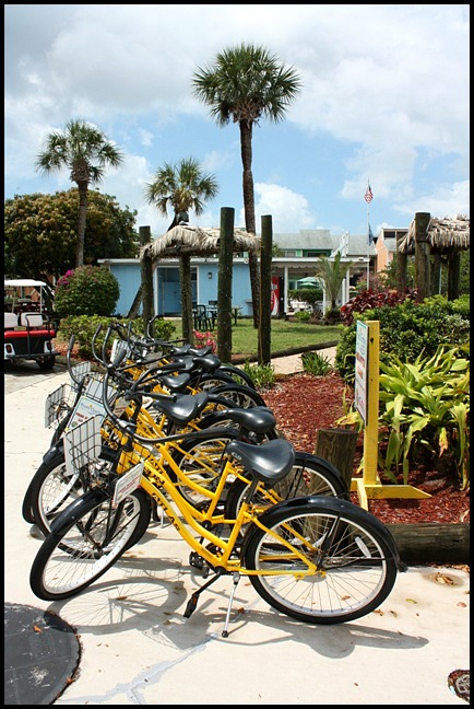 Bicycles, bike rental, Fishermen's Market, Punta Gorda, Florida, SW Florida