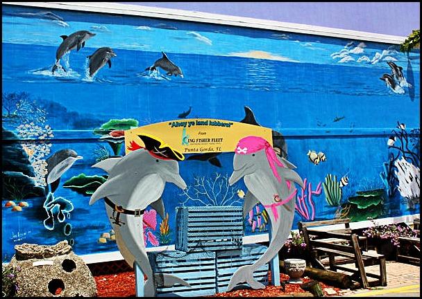 mural, Fishermen's Market, Punta Gorda, Florida, SW Florida, art,