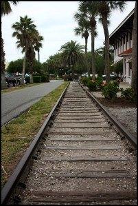 train tracks, Boca Grande train depot, trees, Boca Grande Bike Path, nature, outdoors, Boca Grande, Gasparilla Island, Charlotte Harbor, SW Florida, FL