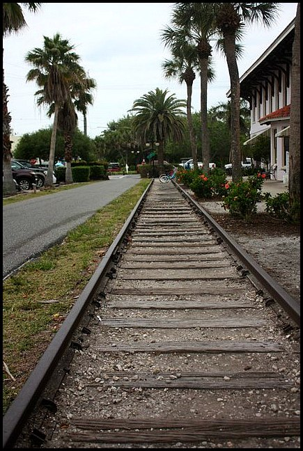 train tracks, Boca Grande train depot, trees, Boca Grande Bike Path, nature, outdoors, Boca Grande, Gasparilla Island, Charlotte Harbor, SW Florida, FL