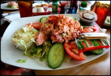 Tuna salad, veggies, fresh, Village Fish Market Restaurant, Punta Grande, Fishermen's Village, Florida, Charlotte Harbor