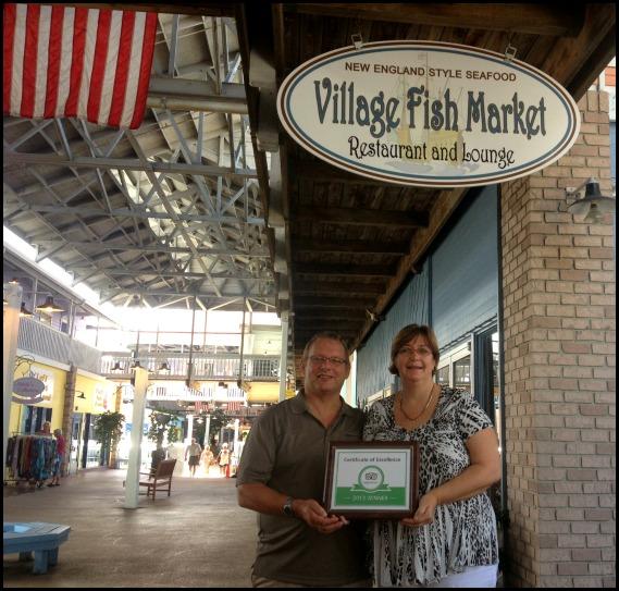 Village Fish Market , TripAdvisor Certificate of Excellence 2013, Fishermen's Village, Punta Gorda, Florida, SW Florida, dining, Charlotte Harbor, FL