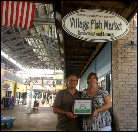 Village Fish Market , TripAdvisor Certificate of Excellence 2013, Fishermen's Village, Punta Gorda, Florida, SW Florida, dining, Charlotte Harbor, FL
