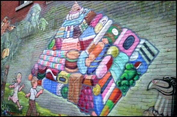 street art in Montreal, mural, street art, urban art, Ville-Marie, montreal, quebec