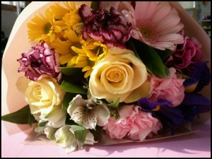Flower Bouquet, flowers, colorful, bouquet, colors, saturated, beautiful