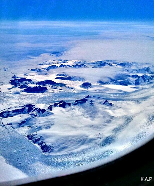 Greenland, view from the sky, rugged terrain, landscape, airview, snow, ice, rocks, sea, nature, spectacular scenery, land
