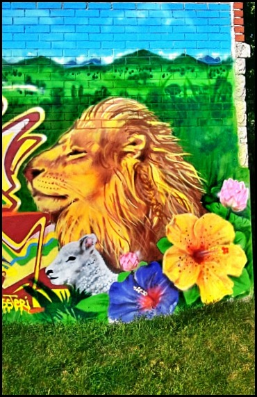 street art in Montreal, Lion head, CDN, côte-des-neiges, mural, street art, urban art, montreal, quebec