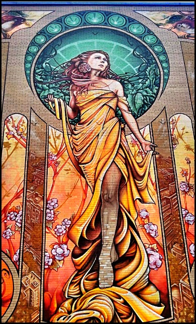 street art in Montreal, Our Lady of Grace, NDG, Notre-Dame-De-Grâce, mural, street art, urban art, montreal, quebec