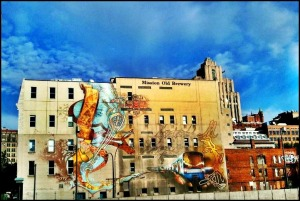 Mission Brewery mural, mural, street art, urban art, old montreal, montreal, quebec