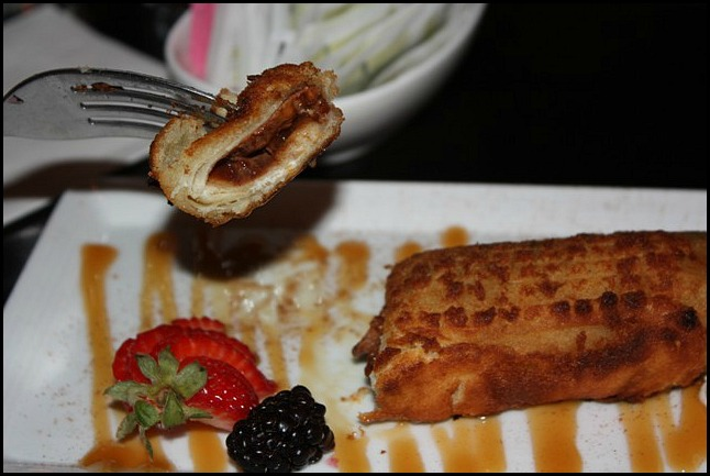 Fried Mars Bar, dessert, sweets, Sir Johns Public House, Kingston. Ontario, Canada, pub