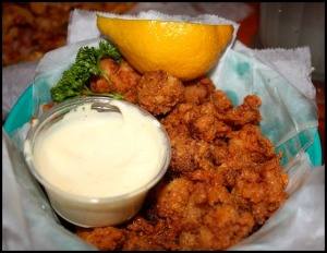 Have an adventurous palate? How about trying gator bites? They are quite chewy and tasty!