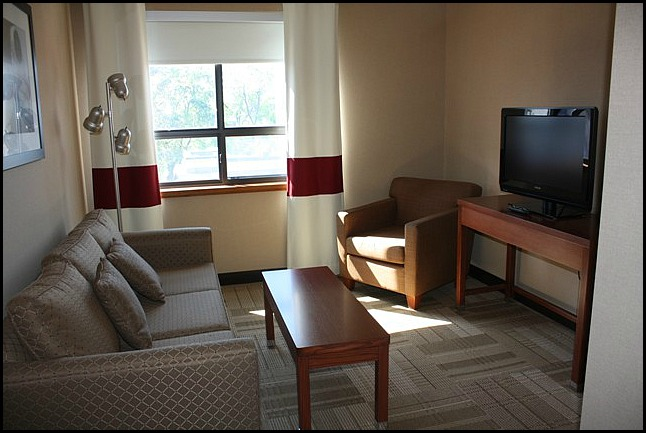 Living area, Four Points by Sheraton, Kingston, Ontario, hotel, hospitality, travel, SPG, Starwood