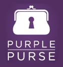 logo purple purse, All State Foundation, Purple Purse, Purple Purse Logo, Pass It On, Domestic Violence Awareness Month