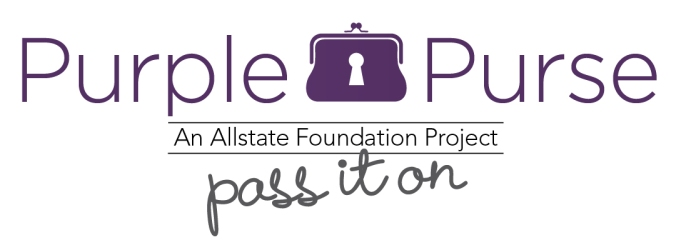 All State Foundation, Purple Purse, Purple Purse Logo, Pass It On, Domestic Violence Awareness Month