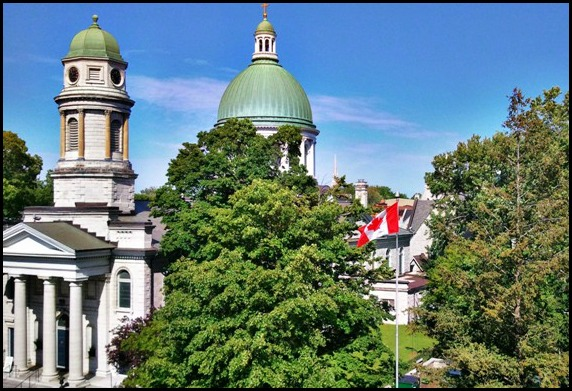 St Georges Cathedral, Kingston, Ontario, Canada, view, view from Four Points by Sheraton