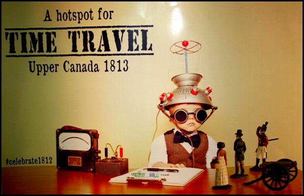 Time Travel Poster, Sir Johns Public House, Kingston. Ontario, Canada, pub