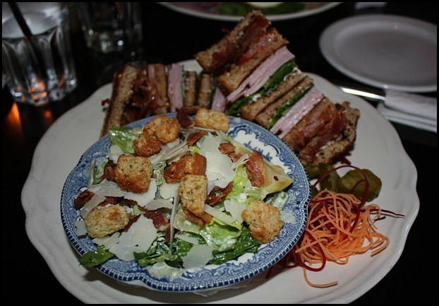 ToryClubSandwich, CaesarSalad. Sir Johns Public House, Kingston. Ontario, Canada, pub