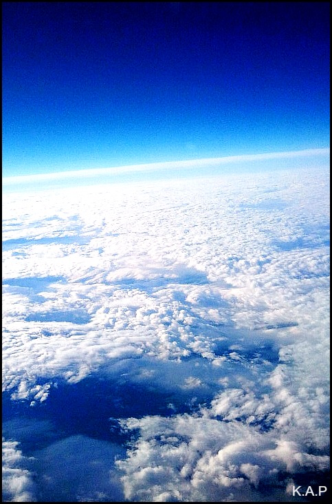 air, sky, space, window seat, travel, flying, horizon, view