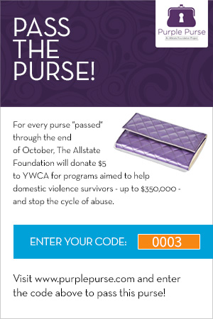 Virtual Purse, All State Foundation, Purple Purse, Purple Purse Logo, Pass It On, Domestic Violence Awareness Month