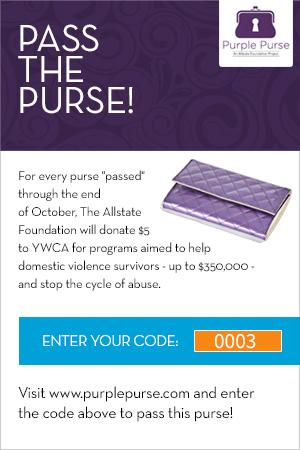 Virtual Purse, All State Foundation, Purple Purse, Purple Purse Logo, Pass It On, Domestic Violence Awareness Month