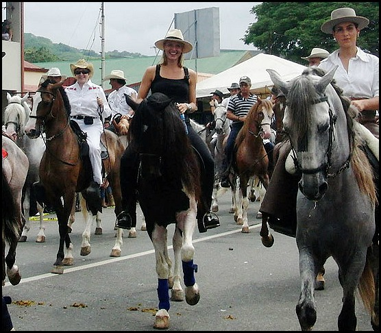 Costa Rica, tope, fiestas, Centro America, Central America, horses, caballos
