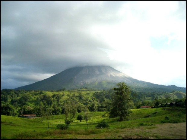 Costa Rica, volcan arenal, arenal volcano, volcano, nature, view, central america, america central