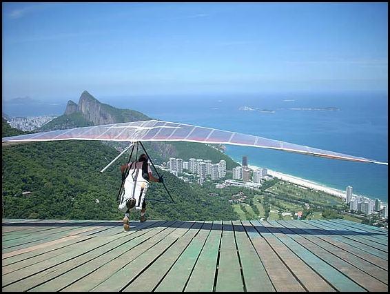 Hang gliding, Pedra Bonita, Rio de Janeiro, Brazil, Brasil, adventures