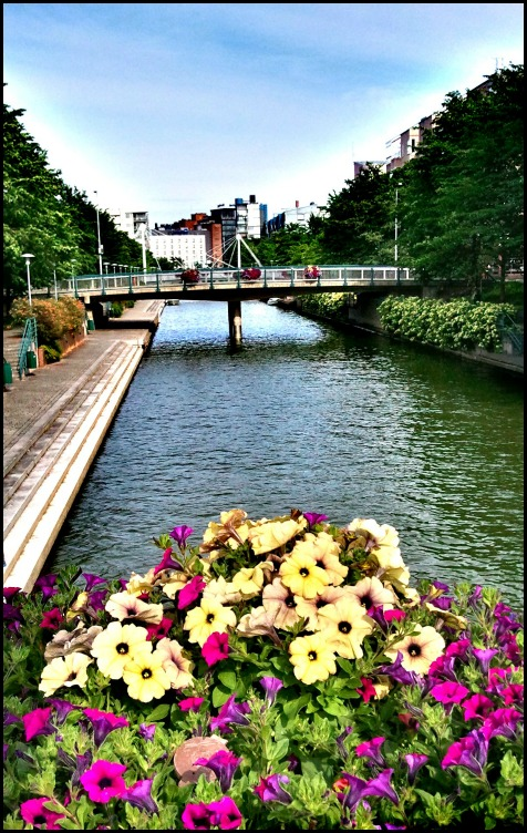 View, Bridge, Ruoholahti, Ruoholahti Canal, Helsinki, Finland,  travel