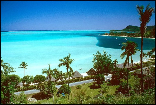View, Bora Bora, French Polynesia, South Pacific, heaven, paradise, idyllic island, exotic location, Polynésie Française