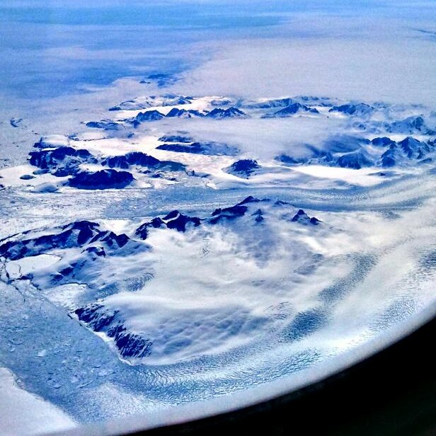 aerial view, air, view, Greenland, ice, mountains, rugged terrain, travel