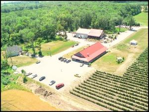 aerial view of Casa Dea Estates Winery, Prince Edward County, Winery, Ontario, Discover Ontario, Travel, Explore Canada