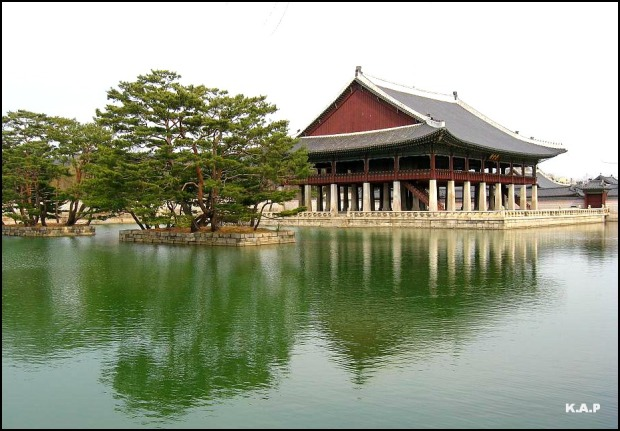 Gyeonghoeru Pavillion, Gyeongbokgung Palace, Seoul, South Korea, Asia, Pavillion, Palace, Travel, Visit Korea
