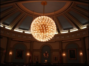 chandelier, illumination, Kingston City Hall, Kingston, Ontario, interior, Discover Ontario, Canada, Explore Canada, view, architecture