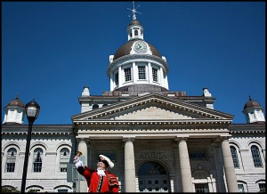 Chris Whyman, Town Crier, Kingston City Hall, Kingston, Ontario, Travel, Discover Ontario, Canada, Explore Canada, tourism, view, architecture