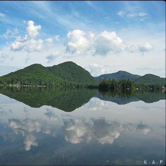 Lac Supérieur, The Laurentians, Quebec, Canada