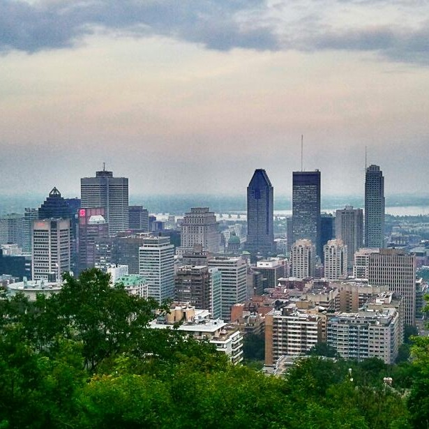 View, Downtown Montreal, view from the mountain, Montreal, Quebec, Canada