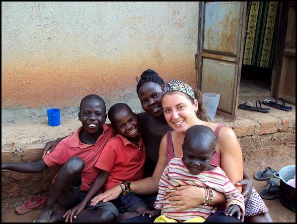 With my host Ugandan Family