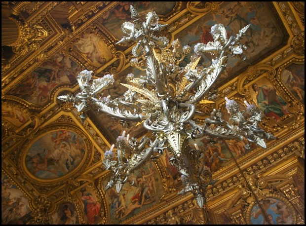 Ceiling, chandelier, Palais Garnier, Paris, France, luxury, opulence, stunning interior