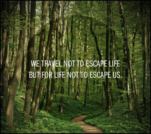 We travel, quote, travel quote