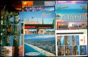 world postcards, postcards, rtw, travel