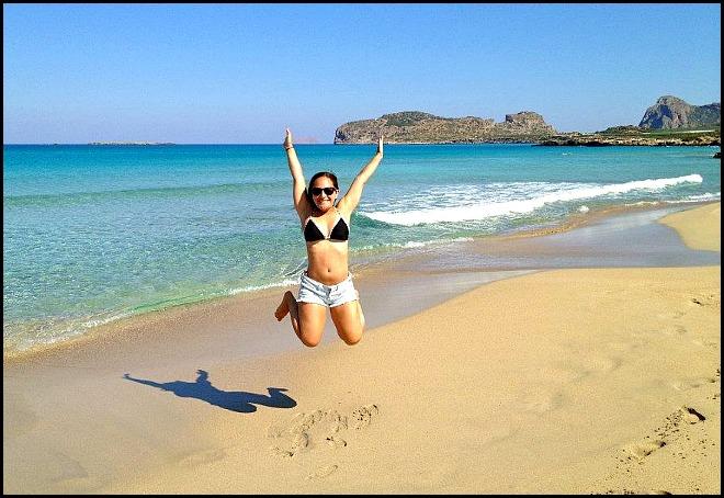 jump for joy, Santorini, Greece, Jessica Kay, A Passion and a Passport, travel, travel blogger, blogger spotlight on