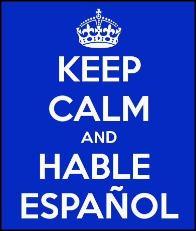 KeepCalmandHableEspanol, keep calm, language learning. Spanish