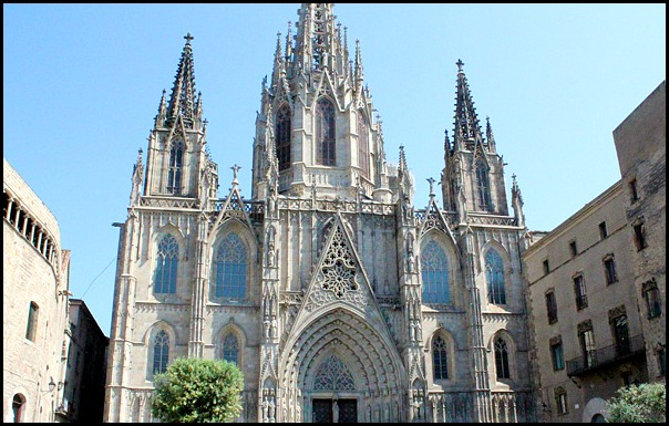Barcelona Cathedral, Barcelona, Spain, Catalunya, view, travel