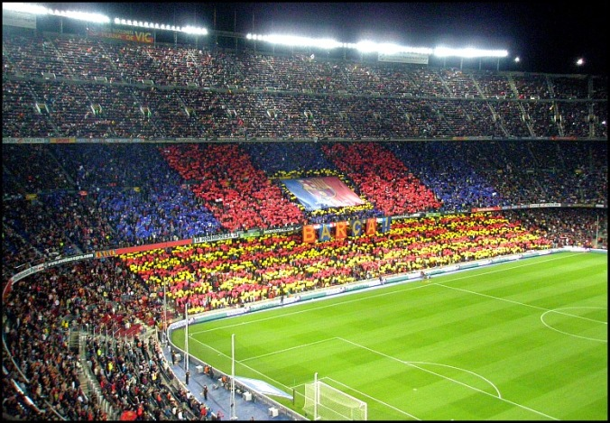 Camp Nou, soccer, stadium, Football Club Barcelona, FCB, Barça, Barcelona, Spain, Catalunya, view, travel