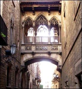 Carrer del Bisbe, Barri Gòtic, Gothic Quarter, Barcelona, Spain, Catalunya, view, travel