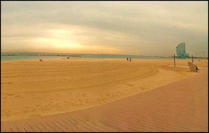 La Barceloneta, beachside, beach, Barcelona, Catalunya, Spain, view, travel