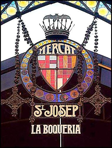 La Boqueria, Mercat de Sant Josep, Barcelona, Spain, Catalunya, view, travel
