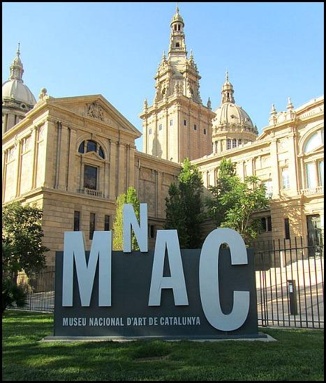 Museu Nacional D'art de Catalunya, National Museum of Art of Catalunya, Barcelona, Spain, Catalunya, view, travel